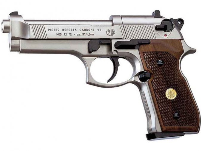Vzduchová pistole Beretta M92 FS nikl