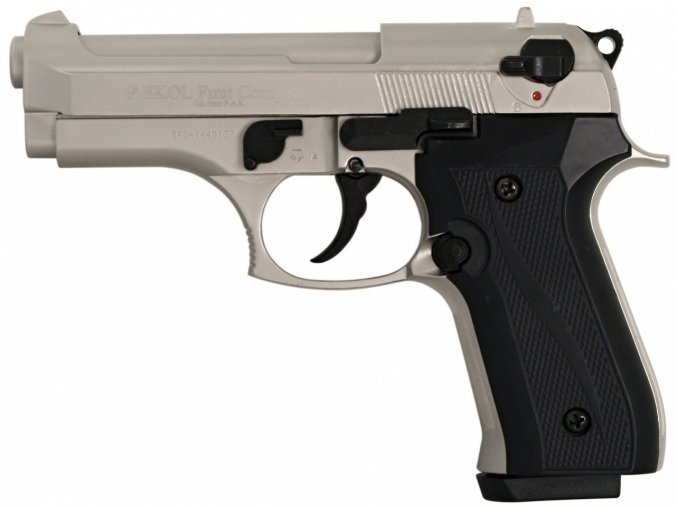 Plynová pistole Ekol Firat Compact satén nikl cal.9mm