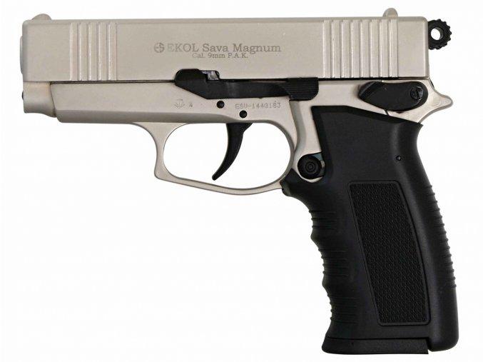 Plynová pistole Ekol Sava Magnum satén nikl cal.9mm